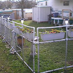 PVC Fence with Planters plans u0026 pictures. & Free plans and pictures of PVC pipe projects.