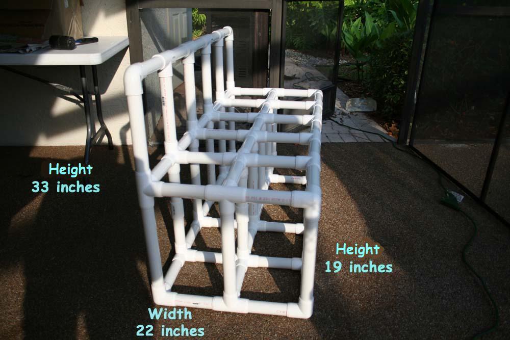 Build a PVC scuba tank rack