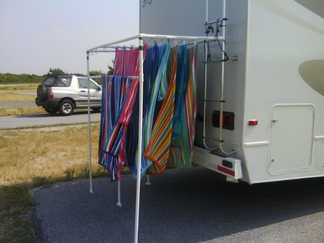 Build A Pvc Rv Hanger Clothes Line