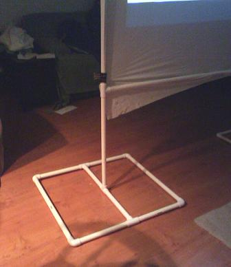 Free plans for a $25 Rear Projection Screen out of PVC pipe