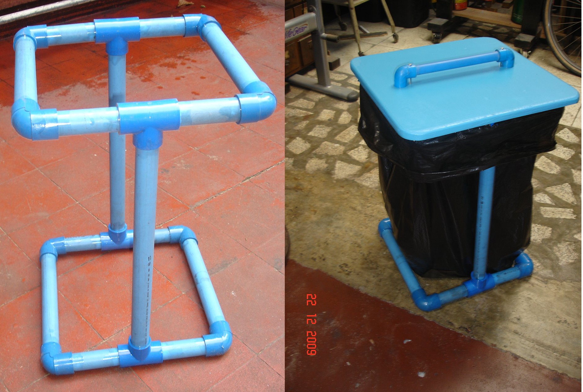 TRASHBAGHOLDER Build a PVC Trashbag Holder