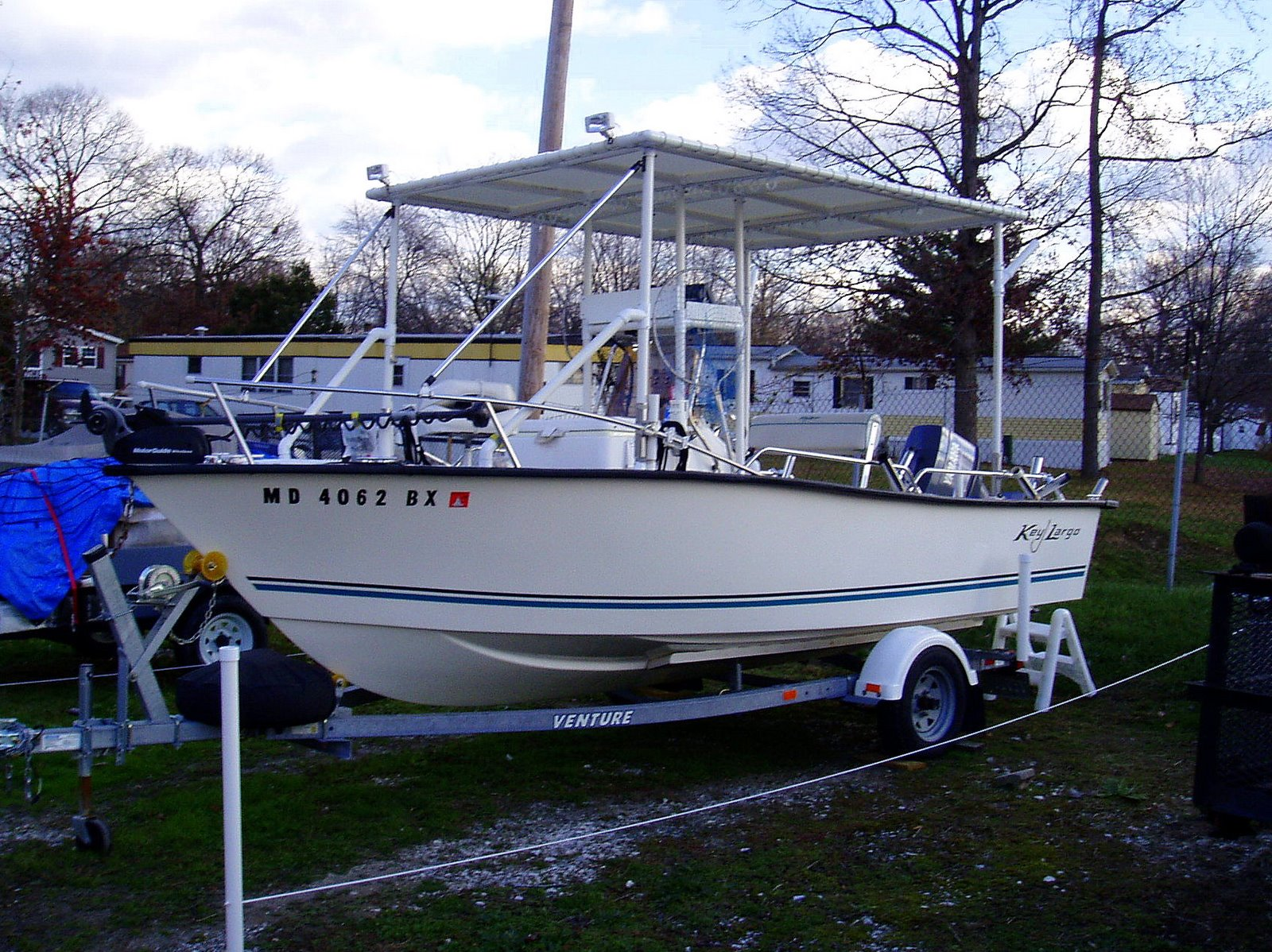 PVC Pipe Boat Canopy