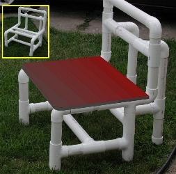 Free plans and pictures of pvc pipe projects for Pvc furniture plans