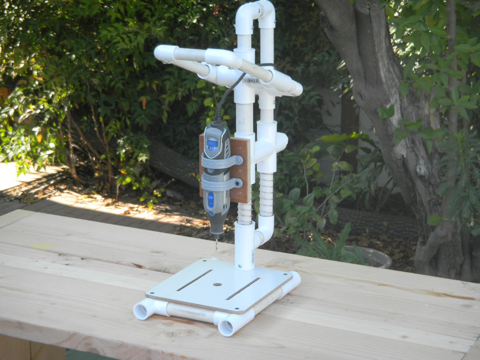 pictures of a build it yourself pvc drill press