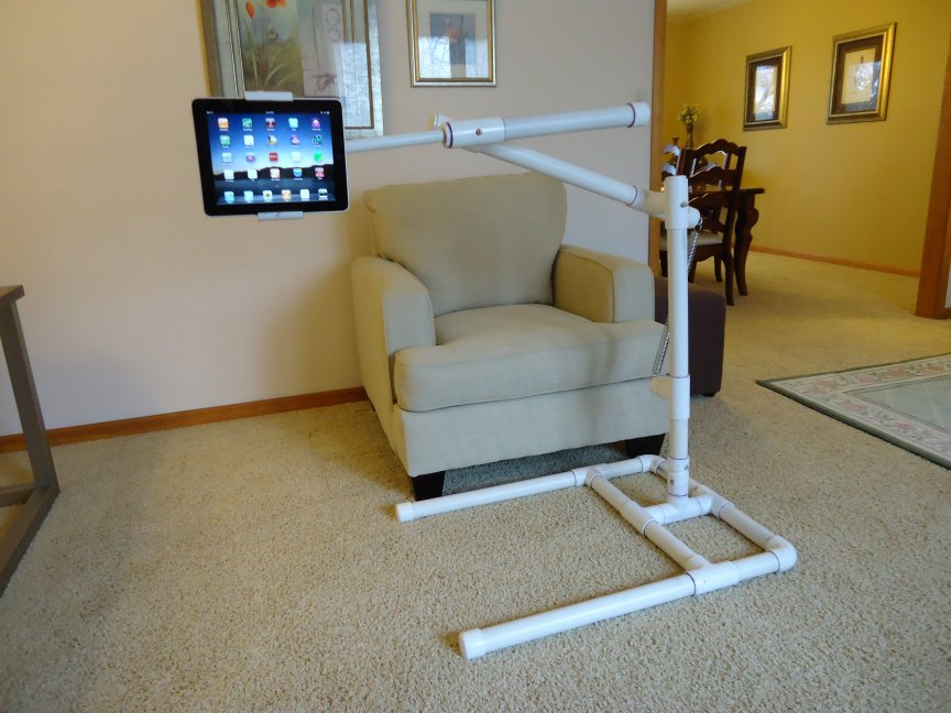 Pictures Of A build It Yourself PVC IPad Stand