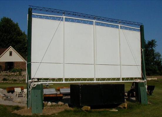 How to make an outdoor theatre screen