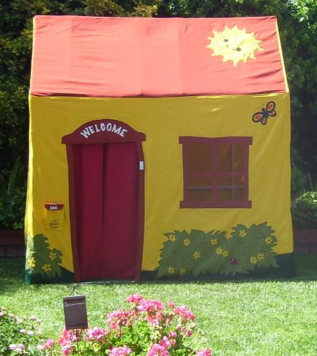 Additional tents (haunted house tent Christmas gingerbread house tent etc.) can be sewn to drop over PVC frame. This play house was built by Denise C. & Play house built out of PVC pipe and fittings.