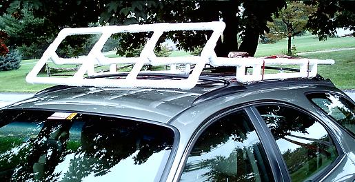 Pvc Roof Rack With Wind Deflector